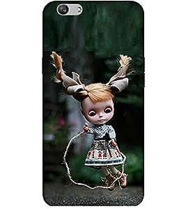Takkloo baby doll ( cute doll, Brown hair, girl skipping rope) Printed Designer Back Case Cover for Vivo V5 Plus :: V5 Plus Vivo