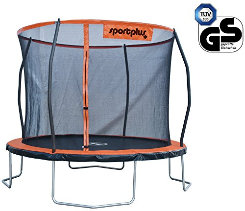 Sportplus trampolino da giardino sp-t-305, unisex-adulto, arancione, diametro ca. 305 cm