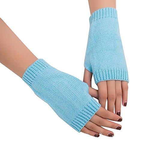 Kinlene Mujeres niña punto Brazo sin dedos Cálido