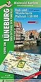 Lüneburg = Rad- und Wanderkarte - Rund um Lüneburg und entlang der Ilmenau: Maßstab 1:50.000 - GPS geeignet - Kartennetz: Gaus-Krüger-Projektion auf ... - Maßstab 1:50.000 - GPS geeignet)
