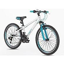 Bicicleta de aleación con cambios Shimano para niños de 7 a 14 años, rueda de 24 pulgadas
