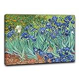 Niik Quadro + Telaio (BC) Gli Iris di Vincent Van Gogh Quadro 60 x 43 x 1,7 cm Falso d'autore Stampa su Tela