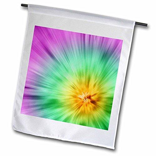 3drose FL _ 49038_ 1Multi Farbe Tie Dye design-bright und bunt, diese Tie Dye Design Sticht Garden Flagge, 12von 18 (Dye Tie Farbe Multi)