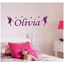 Personalised Fairy Wall Sticker, Any Nombre, Any Colour, Childs Bedroom.