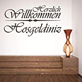Islamische Wandtattoos - Meccastyle - Herzlich Willkommen - Hosgeldiniz - A415