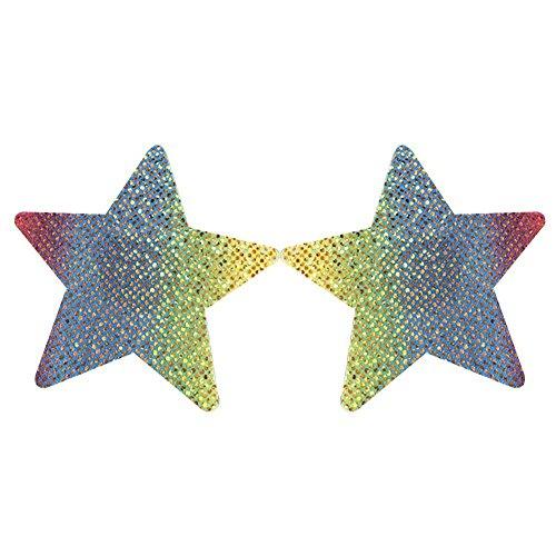 (Cool Ring Regenbogen Bunte Welle Punkt Anti-Bulk Anti-Licht Stealth Nahtlose Tuch Milch Paste (Star))