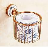 Weinregal-Aufbewahrungshalter Geben Sie lochendes europäisches rosafarbenes Goldspulenstandplatz-Toilettenpapierhandtuchhalter-Toilettenpapierlagergestell Badezimmerpapiertuch frei Weinregal-Display-R