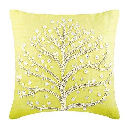 5 cm Kissen Fall, Gelb Kissenbezüge, Perle Baum Kissen Decken, Art Silk Platz Kissenbezüge, Blumen Zeitgenössisch Dekoüberwurf Kissenbezüge - Yellow Tree ()