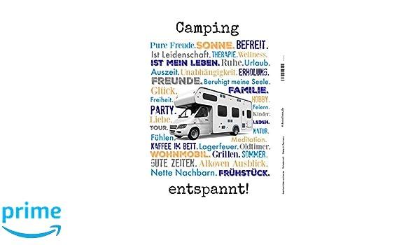 entspannt Mobile Home Glamping zelten blechschild Schatzmix Camping