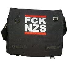 FCK NZS Fuck Nazis - Packtasche Schwarz ca. 30 x 25 x 12,5 cm