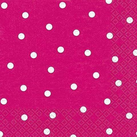 60 Tovaglioli Dots berry 25 x 25 cm 3-strati di carta, Cocktail Tovaglioli