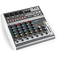 Vonyx VMM-K602 music mixer de 6 canales Bluetooth USB-Audio-Interface