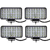Yuanline® Lot 12V 24V 96W Phare Voiture AUTO Feux de Jour Led Projecteur Spot Lampe de Travail étanche IP67 Pour Véhicule Camion SUV Bateau Chantier (4)