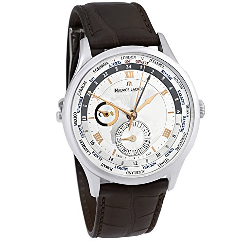 Maurice Lacroix Masterpiece Tradition Worldtimer MP6008-SS001-110-2 - Reloj para hombre