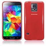 TBOC® Rot Gel TPU Hülle für Samsung Galaxy S5 Plus G901F Ultradünn Flexibel Silikonhülle