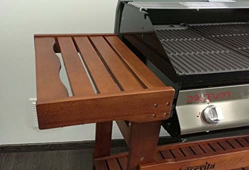 reputable site 7aa42 19e7f Dolcevita BBQ Euro 4 Barbecue a Gas con Carrello in Legno ...