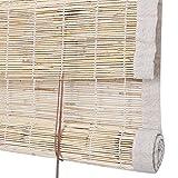 GDMING-Tenda di bambù tonalità Romane Ciechi di bambù Tendina Parasole per Uso Esterno Porta E Finestra Area di Lavoro Durevole, 3 Stili Dimensione Personalizzabile (Color : A, Size : 90x220cm)