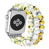 Clatune Apple Watch en céramique Band, iPhone montre en céramique Sangle Bracelet
