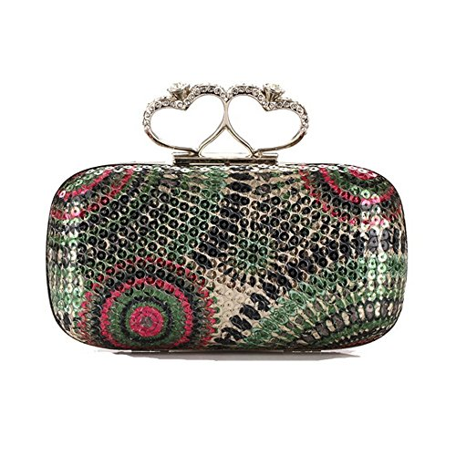 Eysee, Borsa a spalla donna blu Rose-Gold 7.3inches*3.9inches*2inches Green