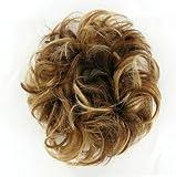 Haargummi Scrunchie Haarteil Haarverdichtung kupfer blond braun klar Poly Mesh 17 6bt27b