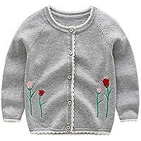 Famesale Niños Baby Coat Baby Girl Sweater Cardigan Dibujos Animados Dinosaur Print Cardigan Sweater