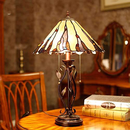 Light-GYH Tiffany-Art Tischlampen, dekorative Schreibtischlampen des Hotel-15inch Wohnzimmers, kreatives Nachttischlicht E27 MAX 40W * 2 der antiken Schlafzimmer -