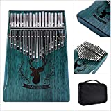 Kalimba 17 Chiavi Thumb Piano, con La Borsa Portatile Finger Piano con Istruzione di Studio E Tune Hammer, per Bambini Adulto Principianti (Blu)