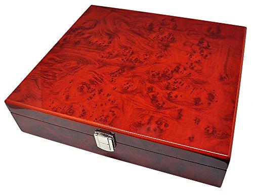 Aufbewahrungsbox Ambonia Uhrenbox für 10 Uhren 8-fach lackiert 10220