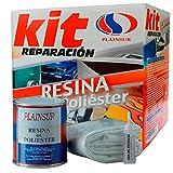 Plainsur - Kit De Reparacion Resina De Poliester Mas Fibra De Vidrio