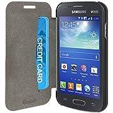 Muvit MUSLI0578 Etui Folio pour Samsung Galaxy Ace 4 Noir