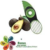 Avocadoschneider, 3 in 1 Green Splits Pits Scheiben Scharfe Klinge Obst Avocado Mango Papaya Pitter Peeler