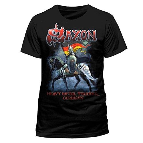 CID SAXON - HMT GERMANY-T-shirt  Uomo    nero Large