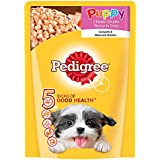 Pedigree Wet Dog Food, Chicken Chunks in Gravy for Puppy – 80g (Sample Pack)