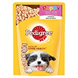 #1: Pedigree Gravy Puppy Dog Food Chicken & Rice, 80 g Pouch
