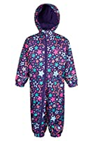 Mountain Warehouse Spright Junior Printed Rain Suit Purple 18-24 months