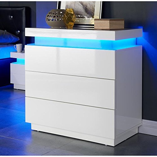 flash-commode-75-cm-avec-led-multicolore-blanc-brillant