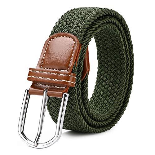 flintronic Cinturón Elástico Trenzado 110-125cm, Unisex Casual Tejido Cinturon Trenzado Para Hombres y Mujeres, Durable y Cómodo y Totalmente Ajustable
