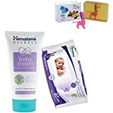 Himalaya Herbals Baby Cream (200g)+Himalaya Herbals Soothing Baby Wipes (12 Sheets) With Happy Baby Luxurious Kids Soap With Toy (100gm)