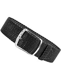 Cristal Bande de Rechange Perlon Ruban Noir, tressé, imperméable et résistant 25592s, chevalet Textile Largeur: 14mm