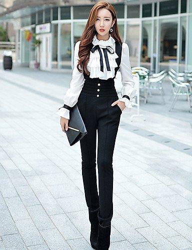 GSP-Combinaison ( Acrylique / Polyester ) Bodycon / Informel / Soirée Taille Haute à Sans manche pour Femme l-black