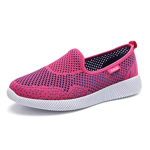 Damen Casual Schuhe,Athletisch Frauen rutschfeste Sport Slip On Loafers Ethnischen Stil Square,Lady Schuhe Sneakers Walking-Jogging URIBAKY (Converse Baby Sale)