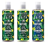 Faith In Nature Lemon and Tea Tree Shampoo, Conditioner and Shower Gel Trio Pack