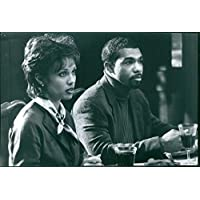Vintage photo of Vanessa L. Williams as Teri and Michael Beach as Miles in a scene from the 1997 American comedy-drama film
