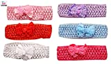 #7: Baby Station Baby Girls Elastic Hairband (Multi Color)