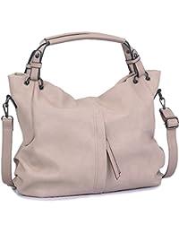 WISHESGEM Handtaschen Damen Taschen Hobo Umhängetaschen Schultertaschen Handtaschen PU-Leder Henkeltaschen Modernes 36cm(L)*16cm(W)*30cm(H)