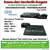 IBM LENOVO Dockingstation Typ 2504 ThinkPad Advanced Mini Dock kompatible zu: R60 / R61 / R400 / R500 / T60 / T61 / T400 / T500 Portreplikator Lieferung OHNE Netzteil, Schlüssel nicht immer dabei, aber geöffnet