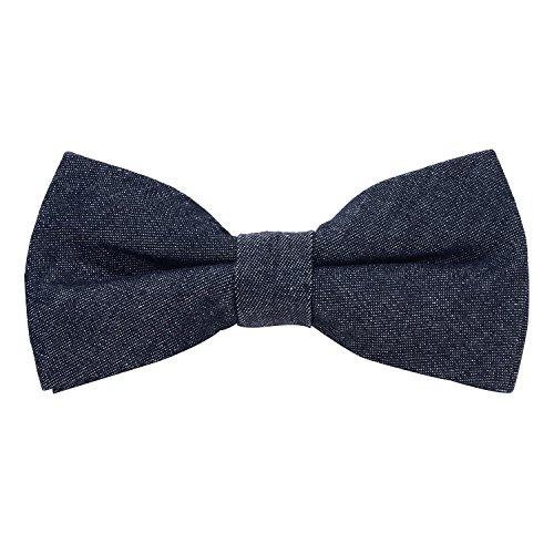 DonDon Herren Jeans Fliege Schleife gebunden 100% Baumwolle dunkelblau (Gebunden Jeans)