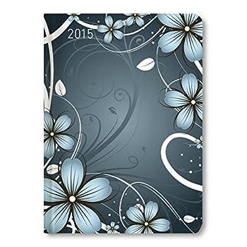 Ladytimer Blue Blossoms 2015 - Taschenplaner / Taschenkalender A6 - Weekly - 192 Seiten