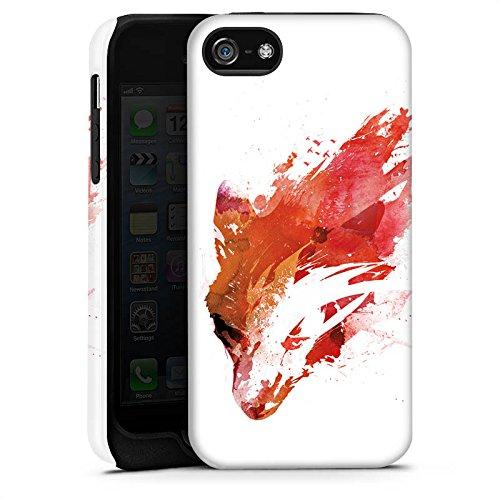 Apple iPhone X Silikon Hülle Case Schutzhülle Fuchs Street Art Wasserfarbe Tough Case matt