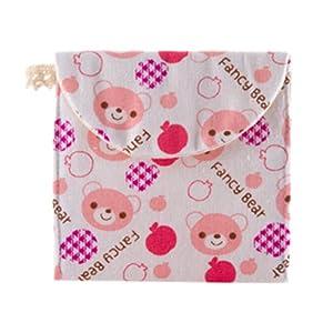 Sanitary Napkin Bags - TOOGOO(R) Brief Cotton Full Dots Sanitary Napkin Bags Sanitary Towel Storage Bag Traveling Travel Bag £¨Pink Bear£©
